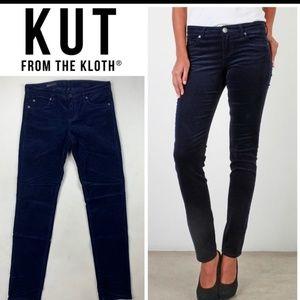 Kut from the Kloth navy corduroy dianna skinny 8